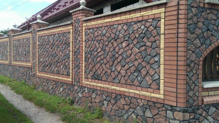Кирпичные и каменные заборы