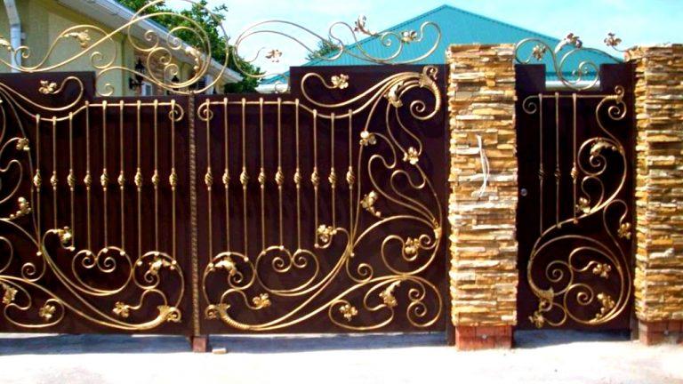 Двухцветная покраска ворот